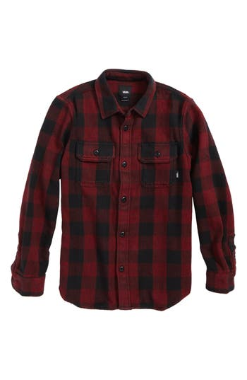 Boys Vans Wisner Buffalo Plaid Twill Shirt