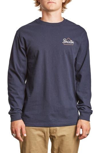 Brixton Newbury T-Shirt, Blue