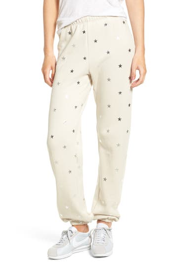 Women's Wildfox Twinkle Star Jogger Pants, Size X-Small - Grey