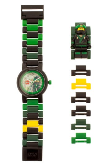 Boy's Lego 24-Piece Ninjago Lloyd Buildable Water-Resistant Watch
