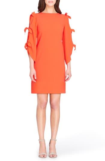 Tahari Split Tie Sleeve Shift Dress, Pink