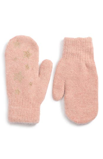 David & Young Sequin Stars Mitten, Size One Size - Pink