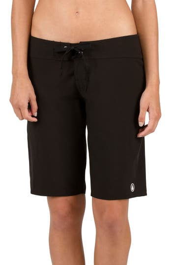 Volcom Simply Solid 11-Inch Board Shorts, Black