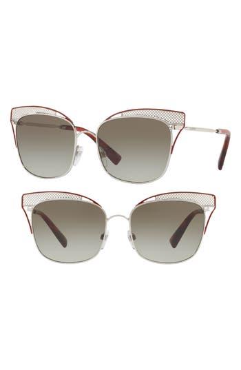 Valentino 55Mm Cat Eye Sunglasses - White Havana
