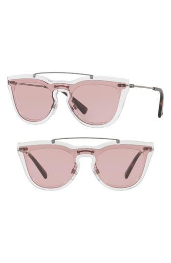 Valentino 4m Retro Sunglasses - Opal/ Pink