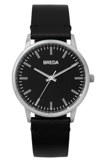 Breda Zapf Leather Strap Watch,