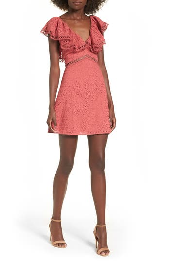 Keepsake The Label Unravelled Minidress, Red