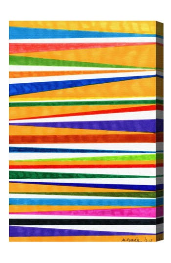 Oliver Gal Canotiers In Color Canvas Wall Art, Size 10x15 - Orange