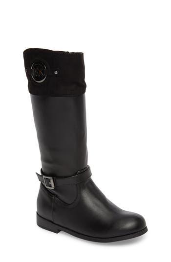 Girl's Michael Michael Kors Emma Freida Riding Boot, Size 4 M - Black
