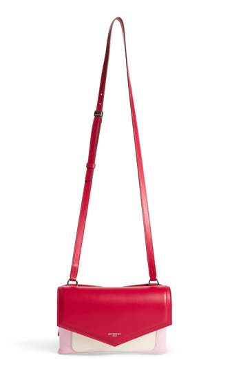 Givenchy Duetto Tricolor Leather Flap Crossbody Bag - Pink at NORDSTROM.com