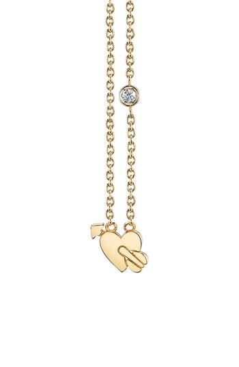 Women's Shy Be Se Lovestruck Diamond Emoji Necklace