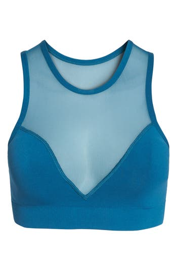 Zella Body In The Lead Sports Bra, Blue/green