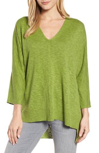 Women's Eileen Fisher Organic Linen & Cotton Sweater, Size XX-Small - Green
