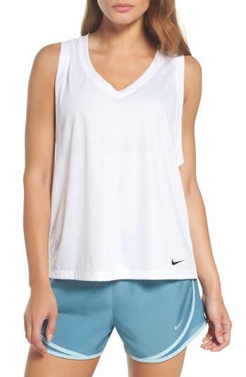 Nike Breathe Tank, White