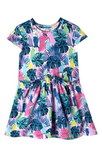 Toddler Girls Art  Eden Keira Birds Of Paradise Dress Size 4T  Blue