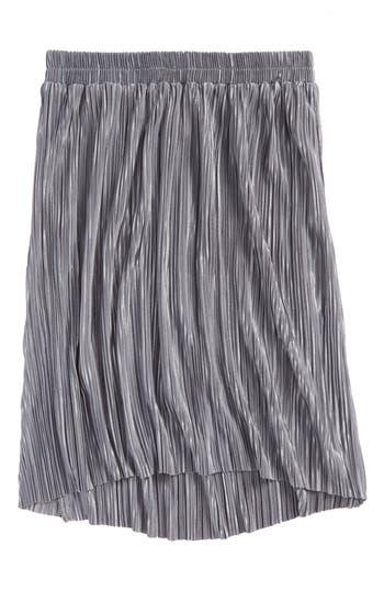 Girl's Mia Chica Pleated Metallic Skirt, Size S (7-8) - Metallic