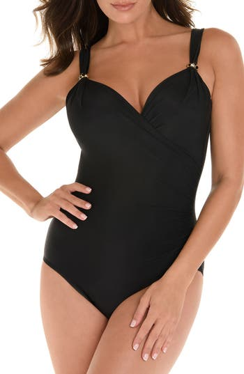 Miraclesuit Razzle Dazzle Siren One-Piece Swimsuit, Black