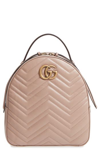 Gucci Gg Marmont Matelasse Quilted Leather Backpack - Beige at NORDSTROM.com