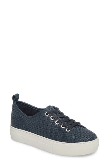 Jslides Artsy Woven Platform Sneaker- Blue