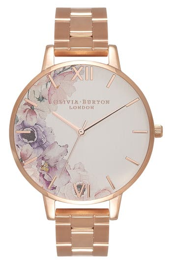 Women's Olivia Burton Watercolour Florals Bracelet Watch, 38Mm