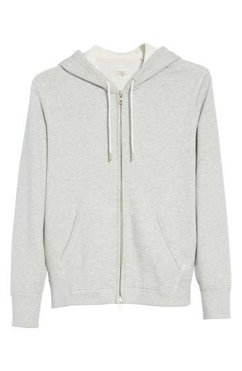Rag & Bone Standard Issue Zip Hoodie, Grey
