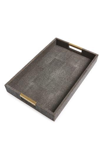 Aerin Modern Shagreen Desk Tray, Size One Size - Brown