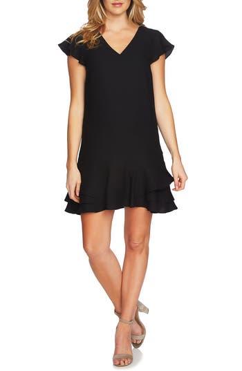 Women's Cece Layla Ruffle Shift Dress, Size 0 - Black
