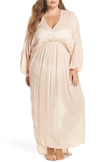 Plus Size Muche Et Muchette Mercer Cover-Up Dress, Size One Size - Pink