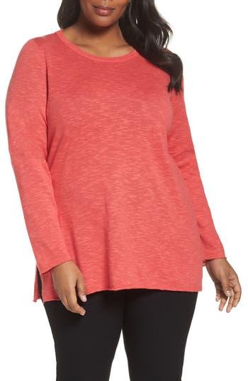 Plus Size Women's Eileen Fisher Organic Linen & Cotton Sweater, Size 1X - Pink