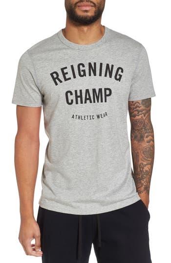 Reigning Champ Gym Logo T-Shirt, Grey