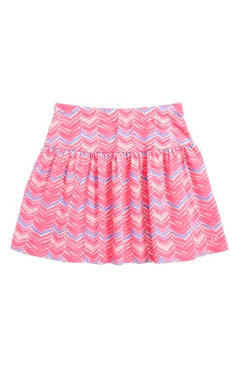 Girl's Vineyard Vines Watercolor Whale Tail Print Skirt, Size XS (5-6) - Pink