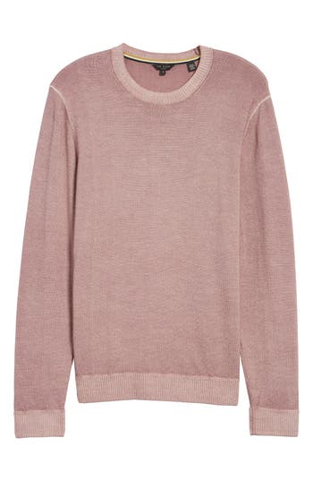 Ted Baker London Lucky Trim Fit Wool Sweater, (m) - Pink