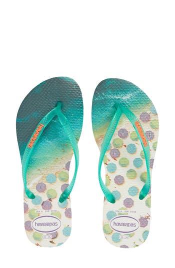 Women's Havaianas 'Slim Paisage' Flip Flop, Size 35/36 BR - Green
