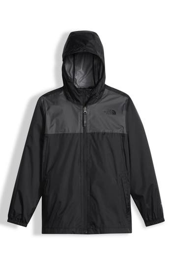 Boys The North Face Zipline Hooded Rain Jacket Size M  1012  Black