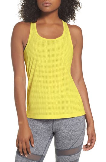 Zella Hollywood Mesh Tank, Yellow