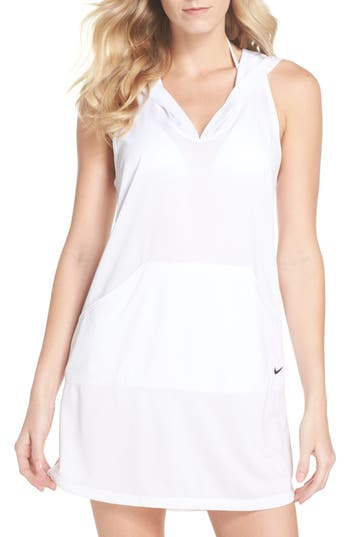 Nike Hooded Cover-Up Dress, White
