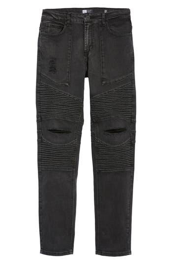 Men's Lira Clothing Baxter Ripped Jeans, Size 28 - Black