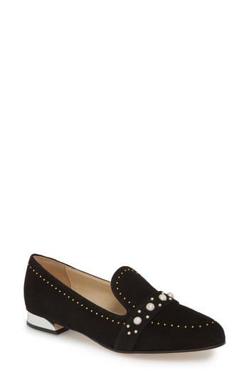 Women's Butter Tamra Embellished Loafer, Size 5.5 M - Black