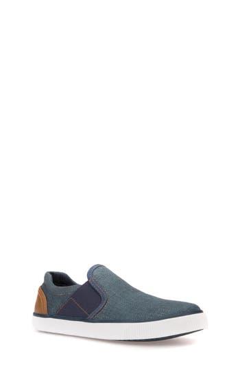 Boys Geox Kilwi SlipOn Sneaker Size 5.5US  38EU  Blue