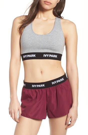 Ivy Park Logo Soft Touch Sports Bra, Grey