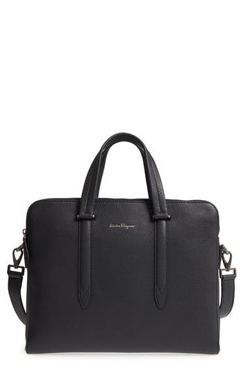 Salvatore Ferragamo Firenze Leather Briefcase