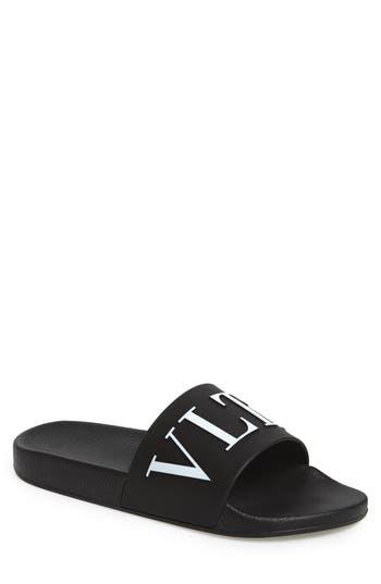 Men's Valentino Slide Sandal, Size 6US / 39EU - Black
