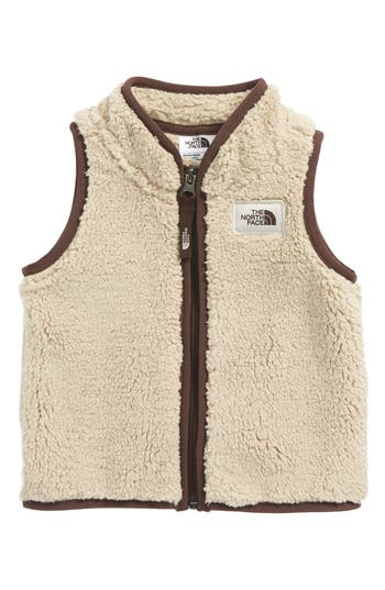 Infant Boy's The North Face Campshire Fleece Vest, Size 0-3M - Beige