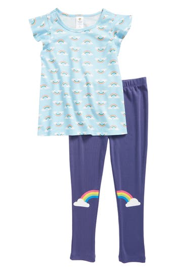 Girls Tucker  Tate Graphic Print TwoPiece Pajamas