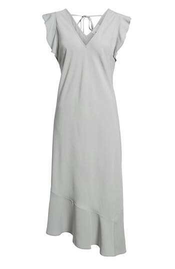 Leith Bias Cut Asymmetrical Dress, Blue