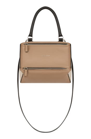 Givenchy Small Pandora Box Tricolor Leather Crossbody Bag