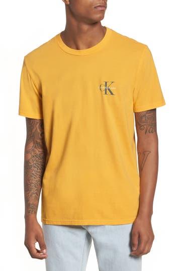 Men's Calvin Klein Jeans Pop Color T-Shirt, Size Small - Yellow