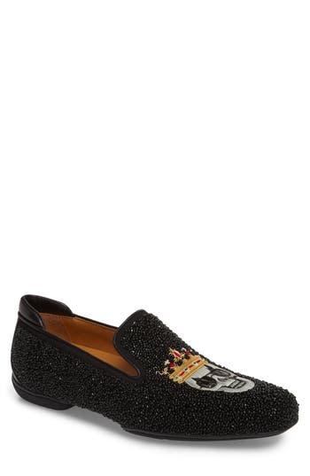 Men's Right Bank Shoe Co Verge Embellished Venetian Loafer, Size 9 M - Black