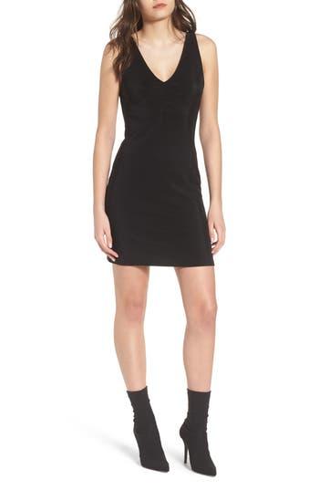 Leith Smocked Body-Con Dress, Black