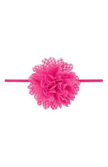 Plh Bows & Laces Floral Head Wrap, Size 0-24 M - Pink
